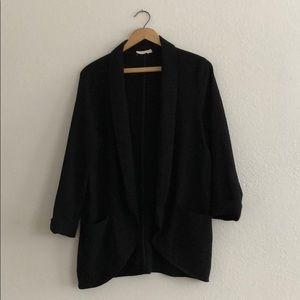 Lightweight soft black blazer